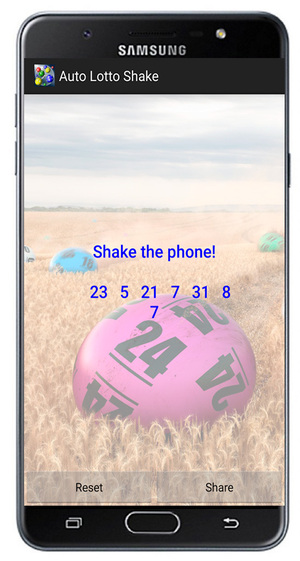 Auto Lotto Shake Android Screenshot