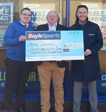 BoyleSports Lotto Winner Derek Delaney