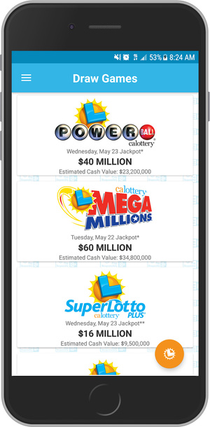 CA Lottery Official App iPhone Screenshot