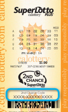California SuperLotto Plus Ticket