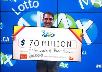 Canada Lotto Max Winner Adlin Lewis