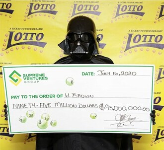 Darth Vader Anonymous Lottery Winner in Jamaica