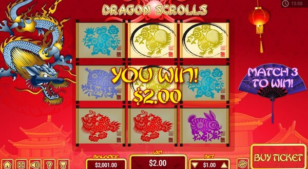 Dragon Scrolls Scratch Card