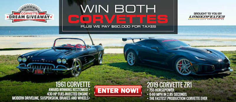 Dream Giveaway 2 Corvettes Prize