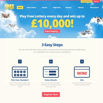 Free-Lottery.net Homepage