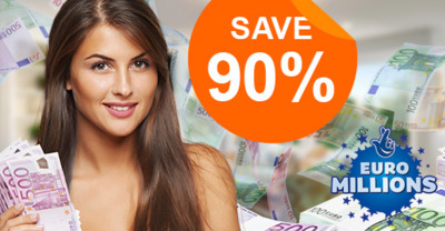 Get 90% off the Euro Million lottery syndicate at LottoKings