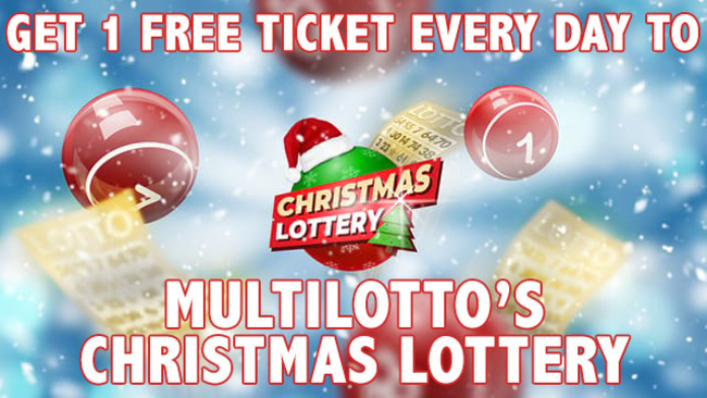Get free Multilotto Christmas lottery ticket