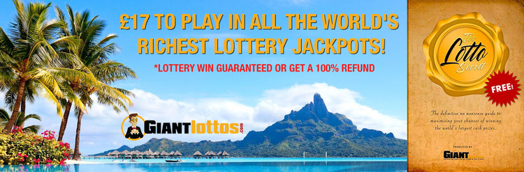 GiantLottos 10 Lottery Combo and Free Lottery Secret eBook Welcome Offer
