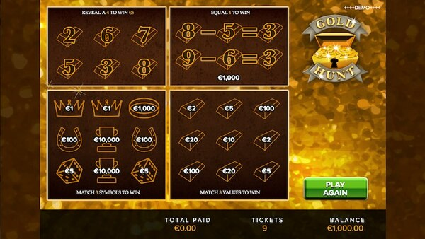 Gold Hunt Scratch Card
