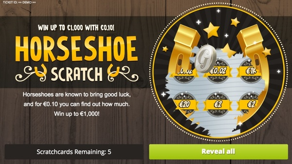 Horseshoe Scratch Card