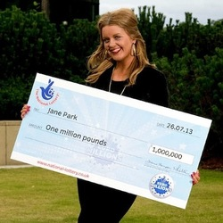 Jane Park Lottery Winner With Large Cheque