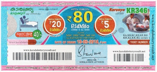 Kerala Lottery Ticket