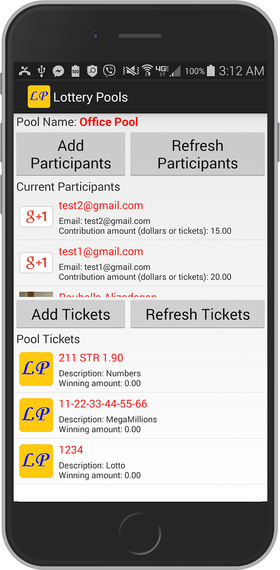 Lottery Pools Android Screenshot