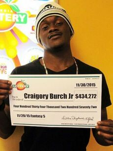 Lottery Winner and Murder Victim Craigory Burch Jr.