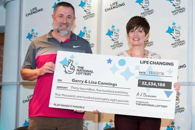 Lottery Winners Lisa and Gerry Cannings