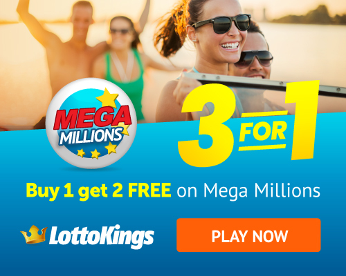 LottoKings MegaMillions Lottery Buy 1 Ticket Get 2 Tickets Free