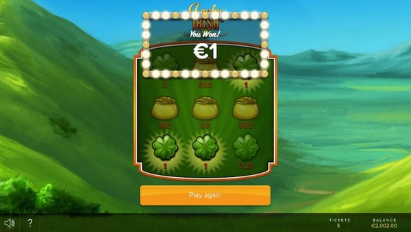 Lucky Irish Scratch Card
