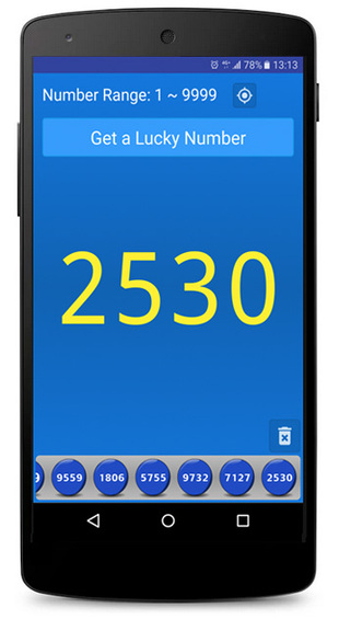 Lucky Numbers - Lottery Android Screenshot