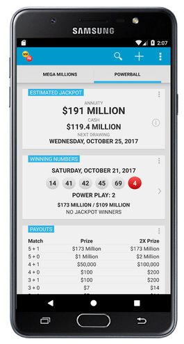 Mega Millions & Powerball App Android Screenshot