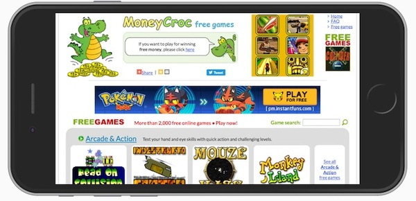 MoneyCroc Mobile Site