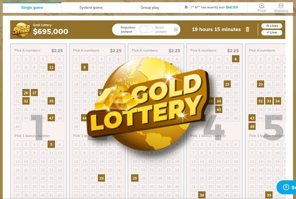 Multilotto Gold Lottery Tickets & Logo