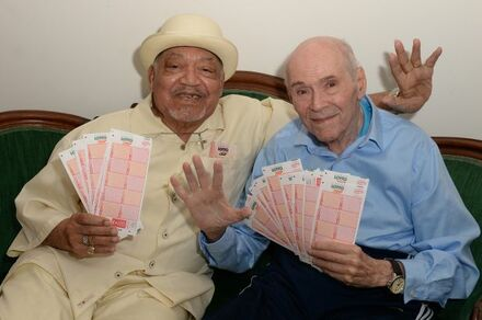 New York Lotto Poster Boys Lou Eisenberg and Curtis Sharp in 2018