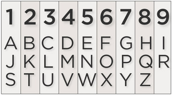 Numerology Letters to Numbers