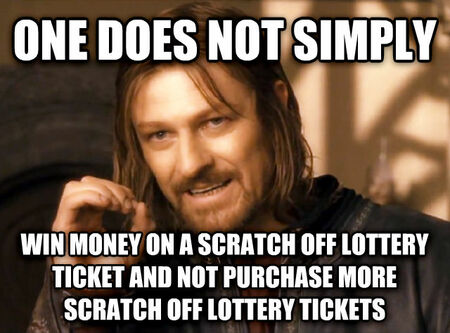 One Does Not Simply Scratch Ticket Meme
