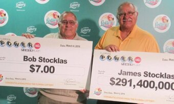 Powerball Brothers Bob and James Stocklas