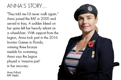 Royal British Legion Beneficiary Anna Pollock