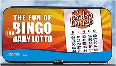 Salsa Bingo Ticket on Billboard