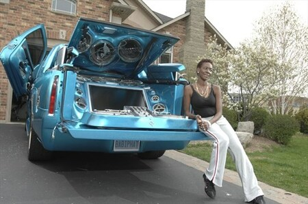 Sharon Tirabassi with Pimped Out Cadillac