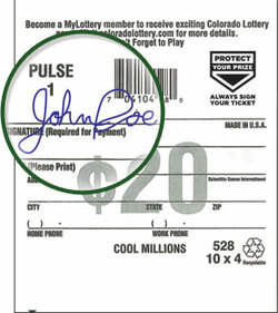 Signed Lottery Ticket