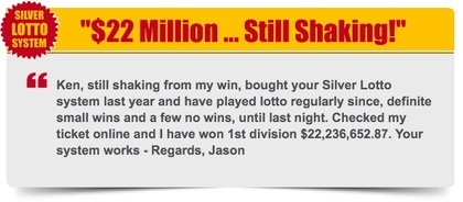 Silver Lotto System $22.2 Million Oz Lotto Winner Jason
