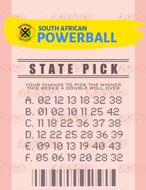 South Africa Powerball Ticket