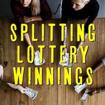 Splitting Lottery Winnings - People Dividing Money at Table