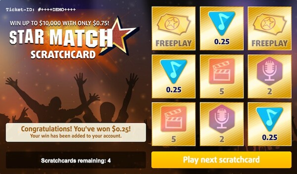 Star Match Scratch Card