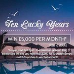Ten Lucky Years Scratch Card Review