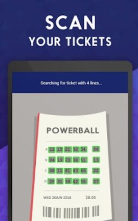 Ticket Scanner for MEGA Millions & Powerball Sample
