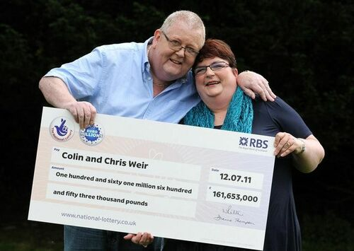 UK EuroMillions Winners Colin and Chris Weir