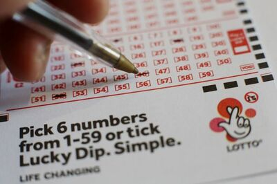 UK National Lottery Ticket