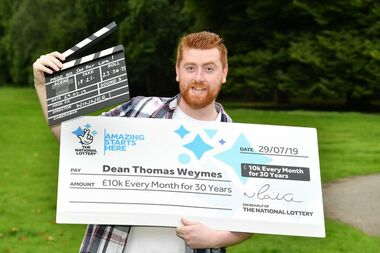 UK Set for Life Winner Dean Weymes